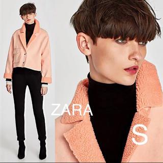 ザラ(ZARA)の新品  ZARA  オーバーサイズ  ムートン  ジャケットS(毛皮/ファーコート)