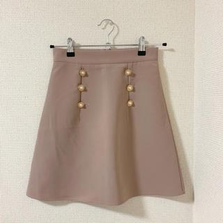 evelyn - アンミール パールボタン台形 スカート ピンク