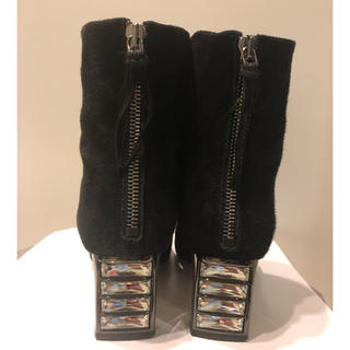 miumiu - ミュウミュウ ショート ブーツ ビジュー ブラック 34.5