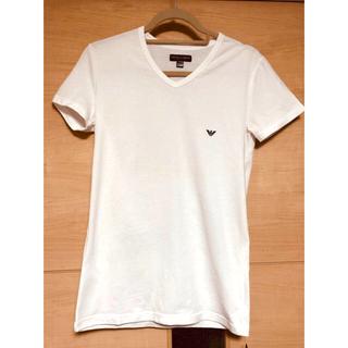 エンポリオアルマーニ(Emporio Armani)の新品未使用!EMPORIO ARMANI 白T(Tシャツ/カットソー(半袖/袖なし))