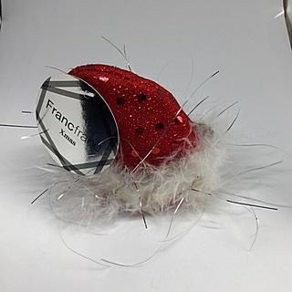 フランフラン(Francfranc)のクリスマスグッズ サンタの帽子 ヘアクリップ(バレッタ/ヘアクリップ)