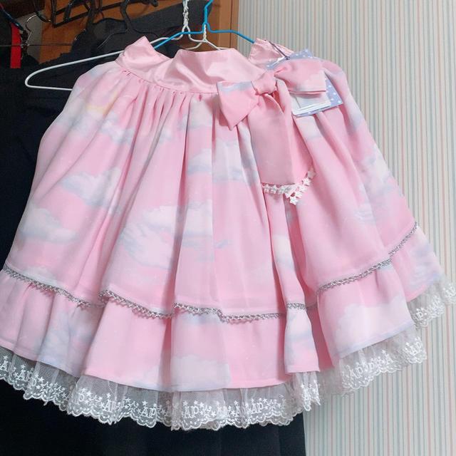 Angelic Pretty(アンジェリックプリティー)のmisty  sky スカート レディースのスカート(ひざ丈スカート)の商品写真