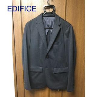 エディフィス(EDIFICE)のEDIFICE テーラードジャケット ネイビー サイズ48(テーラードジャケット)