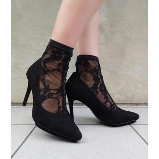 rienda - Sock FIT ショートブーツ