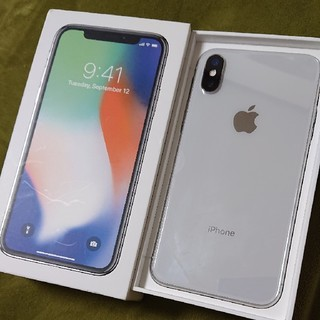 iPhone - SIMロック解除済み iPhonex 64GB シルバー iPhone x