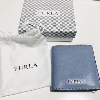 Furla - フルラ 二つ折りミニ財布 グレイッシュブルー限定色
