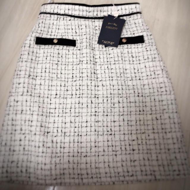 JUSGLITTY(ジャスグリッティー)のツイードスカート  レディースのスカート(ひざ丈スカート)の商品写真