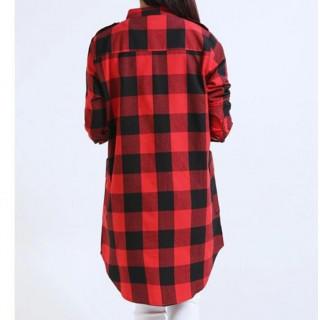 ギンガムチェックシャツ チュニックチェック Mサイズ(シャツ/ブラウス(長袖/七分))