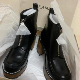 JEANASIS - 【新品未使用】JEANASISジップデザインヒールブーツ 黒♡
