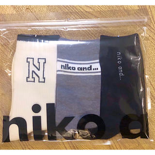 niko and... - ニコアンド  niko and... (W)ORアソートロゴ3Pソックス