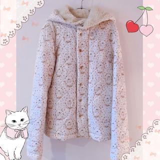 franche lippee - フランシュリッペ♡がまぐち猫 キルトボアフード付ブルゾン♡コート♡猫ちゃん