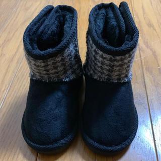 シマムラ(しまむら)のハリスツイード ムートンブーツ 14.0(ブーツ)