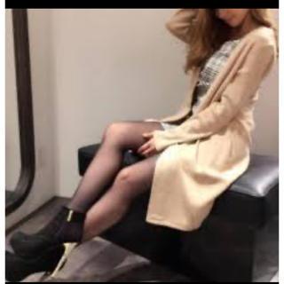 デイライルノアール(Delyle NOIR)の新品タグ付き♡ベージュ♡姉ageha掲載!ミラノリブコーディガン(カーディガン)