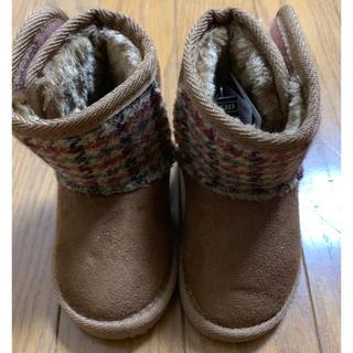 シマムラ(しまむら)のハリスツイード ムートンブーツ 13.0(ブーツ)