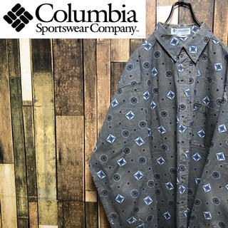 Columbia - 【激レア】コロンビア☆ロゴタグ入りビッグ小紋柄総柄シャツ