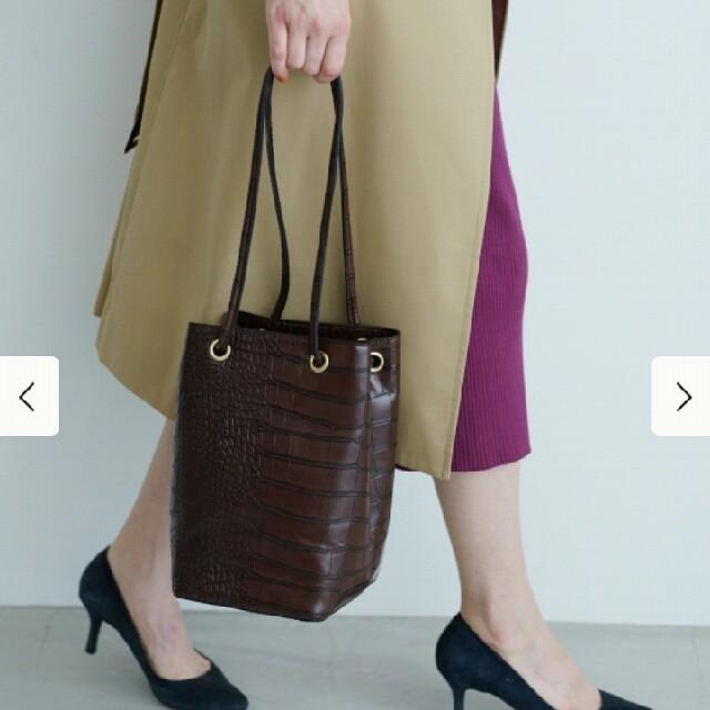 BEAMS(ビームス)のタグ付新品 ビームス スクエアドロストバッグ レディースのバッグ(ハンドバッグ)の商品写真