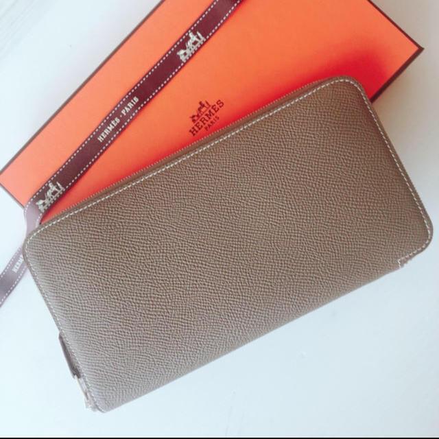 Hermes(エルメス)のレア★ エトゥープ シルクイン エルメス財布 アザップロング レディースのファッション小物(財布)の商品写真