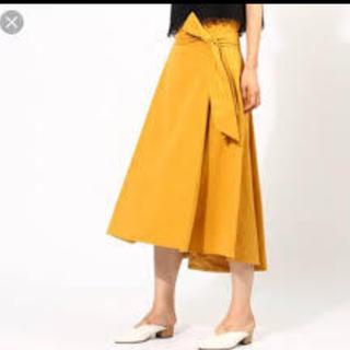 aquagirl - 美品☆アクアガール洗えるベルテッドAラインスカート☆イエナなどお好きな方も