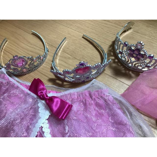 Disney(ディズニー)のオーロラ姫 衣装一式 キッズ/ベビー/マタニティのキッズ服女の子用(90cm~)(ドレス/フォーマル)の商品写真