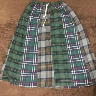 チチカカ(titicaca)のチチカカ ひざ丈チェックスカート 古着(ひざ丈スカート)