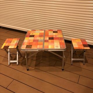 コールマン(Coleman)のコールマン モザイクテーブル チェア スツール ピクニックセット(テーブル/チェア)