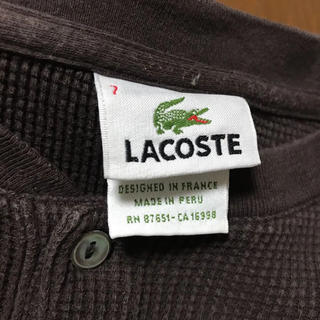 LACOSTE - 古着 used ヘンリー ワッフル LACOSTE