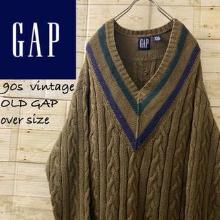 GAP - 超希少カラー‼︎90s OLD GAP オーバーサイズ  チルデンニット アラン
