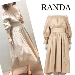 RANDA - RANDA♡新品♡完売♡MORE掲載ワイド♡スリーブ♡オフショル♡ワンピース♡