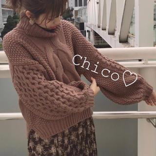 who's who Chico - 最安♡ ワッフル袖ケーブルタートルニット ヘザー ナイスクラップ スナイデル
