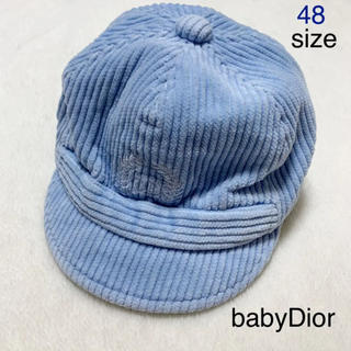 ベビーディオール(baby Dior)の【美品】baby Dior コーデュロイキャップ 48 ファミリア ミキハウス(帽子)