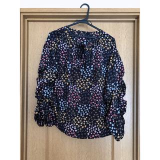 ダブルクローゼット(w closet)のw closet 花柄ブラウス(シャツ/ブラウス(長袖/七分))