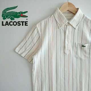 ラコステ(LACOSTE)の790 ラコステ 縦ストライプ ポロシャツ 刺繍 BDシャツ LACOSTE(ポロシャツ)