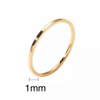 超極細ステンレスリング 重ねて着け ピンキーリング 関節リング 14Kゴールド(リング(指輪))