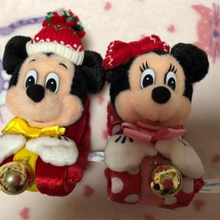 Disney - ミッキー & ミニー ぬいぐるみバンド クリスマス 中古