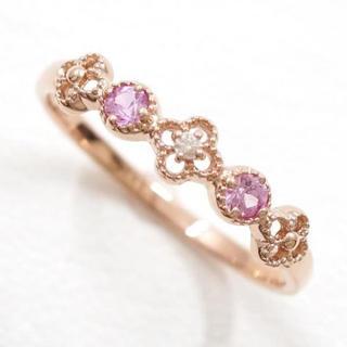リング K10 天然石 ダイヤ 指輪(リング(指輪))