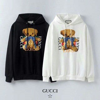 Gucci - 人気商品 グッチ ロゴ フード付き 着心地よい 白黒 メンズ パーカー