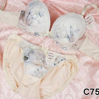 125★C75 M★美胸ブラ ショーツ 定形外(ブラ&ショーツセット)