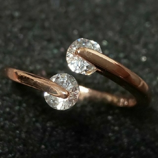 スワロフスキー(SWAROVSKI)のf6❇️ピアニー❇️ 0.25㌌ ダイヤモンドキュービックジルコニア リング  (リング(指輪))