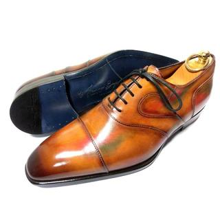 サントーニ(Santoni)の【新品】フランチェスコベニーニョ パティーヌ 革靴 51/2 24.5(ドレス/ビジネス)