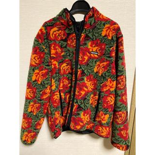 Supreme - supreme roses sherpa fleece jacket