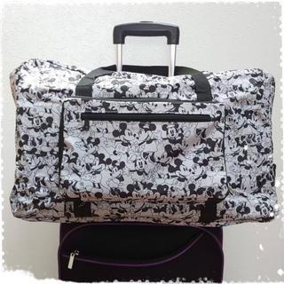 オールドミッキー&ミニー 旅行バッグ✴︎ボストンバッグ  キャリーバッグ 白黒