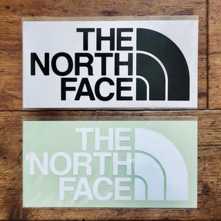 ザノースフェイス(THE NORTH FACE)のノースフェイス カッティングステッカー ブラック1枚 ホワイト1枚の計2枚セット(その他)