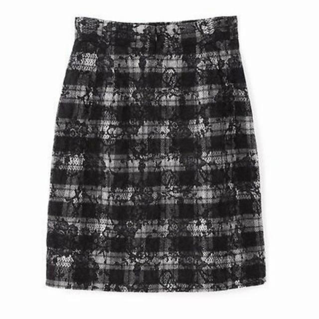 PROPORTION BODY DRESSING(プロポーションボディドレッシング)のプロポーションボディドレッシング チェックレーススカート レディースのスカート(ひざ丈スカート)の商品写真