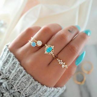 4個セット リング 指輪 セットリング レディース アクセサリー ジュエリー(リング(指輪))
