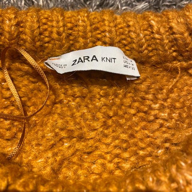 ZARA(ザラ)のzara キャメル ニット レディースのトップス(ニット/セーター)の商品写真