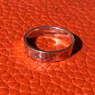 細い 平打ち シルバー925 リング  10号 シンプル プレーン 銀指輪ギフト(リング(指輪))