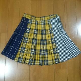 レピピアルマリオ(repipi armario)のかよちん様専用 レピピアルマリオ チェックスカパン&ラブトキフリルパーカー(スカート)