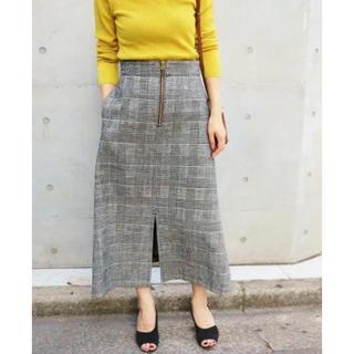 IENA - IENA モールチェックトラペーズスカート