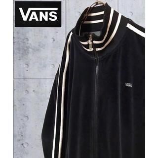 adidas - 【激レア】バンズVANS☆刺繍ロゴサイドラインベロアトラックジャケット 90s