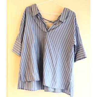 ストライプシャツ(シャツ/ブラウス(半袖/袖なし))